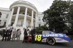 President Obama gets snubbed by NASCAR drivers
